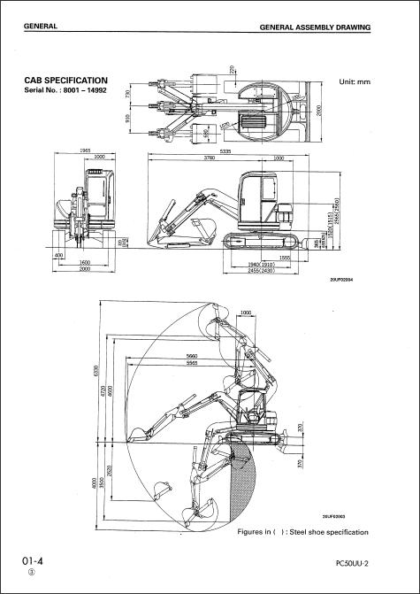 Komatsu Hydraulic Excavator PC50UU-2, Komatsu Hydraulic